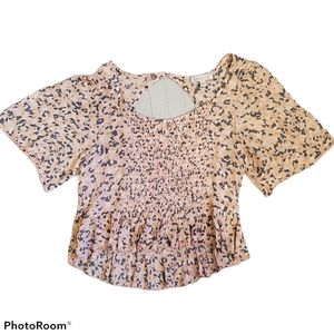 Patrons of Peace smocked crop top size small